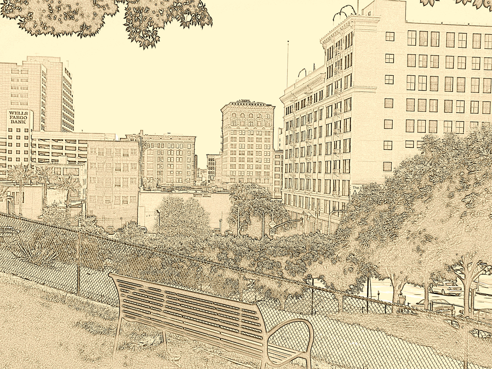 500 days of summer city drawing for Architecture drawing 500 days of summer